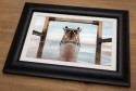 Under Steetley Pier Framed Print
